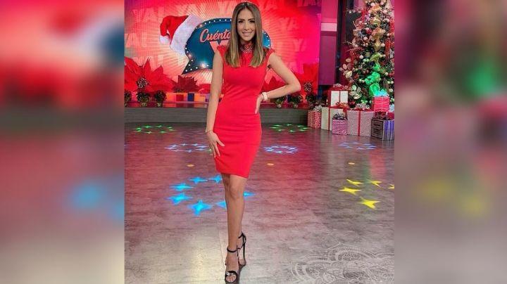 Cynthia Urías deleita los foros de Televisa al lucir delicado vestido blanco