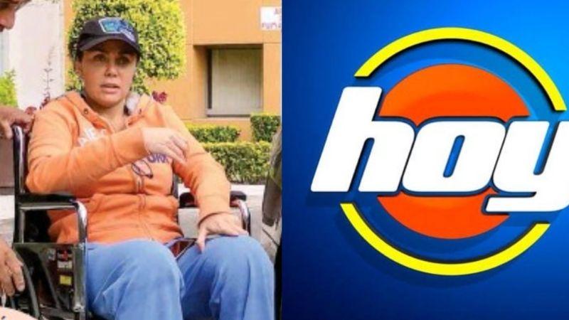 Tras quedar en silla de ruedas y subir 17 kilos, actriz de Televisa da inesperada noticia en 'Hoy'