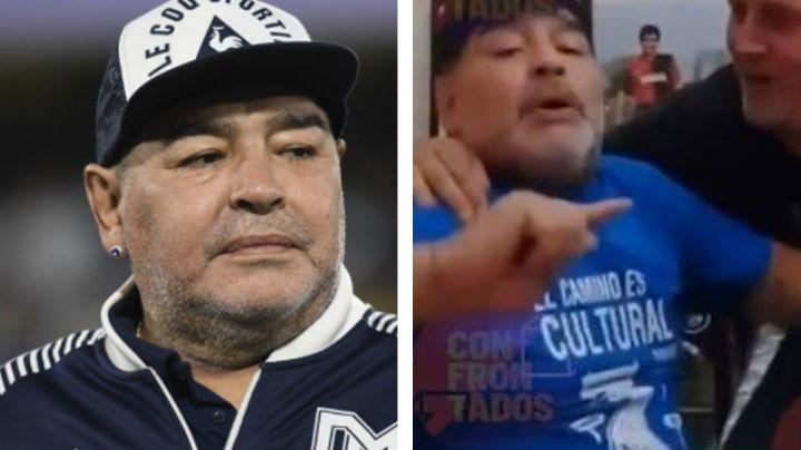 Cerveza, pastillas y tabaco: Filtran impactante video de Maradona antes de morir