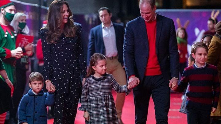 Príncipe William y Kate se roban el corazón al presentarse en la alfombra roja con sus 3 hijos