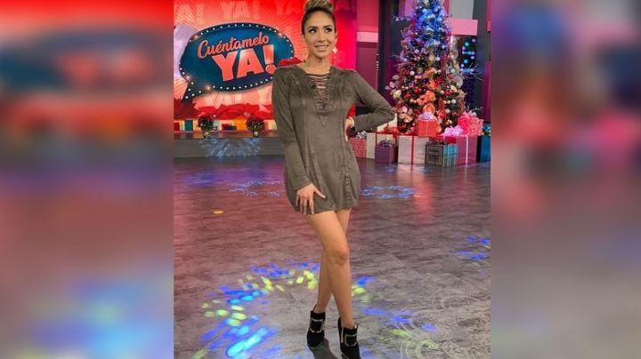 Cynthia Urías enamora los foros de Televisa al lucir majestuoso vestido negro