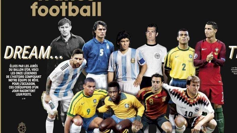 Maradona y Messi aparecen juntos en el 'Dream Team' de 'France Football'