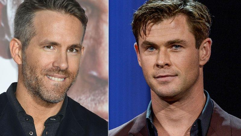 """Chris Hemsworth y Ryan Reynolds 'discuten' en redes sociales: """"Eres el peor actor"""""""