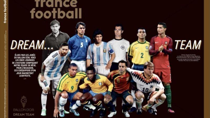 ¿El mejor de todos los tiempos? France Football presenta su Dream Team
