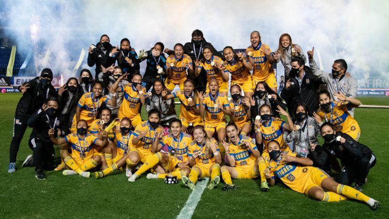 Ellas también rugen fuerte; Tigres Femenil alza la corona del Guard1anes 2020