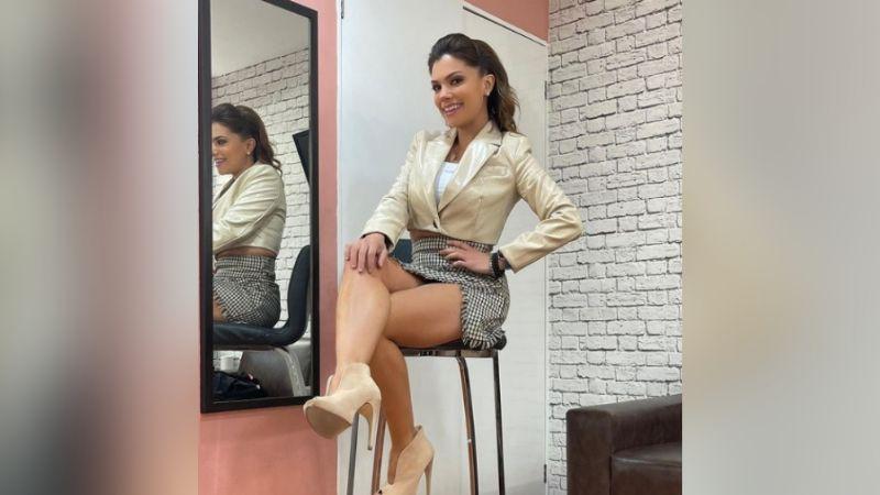 Tábata Jalil en perfecto vestido negro ha causado furor en todo TV Azteca