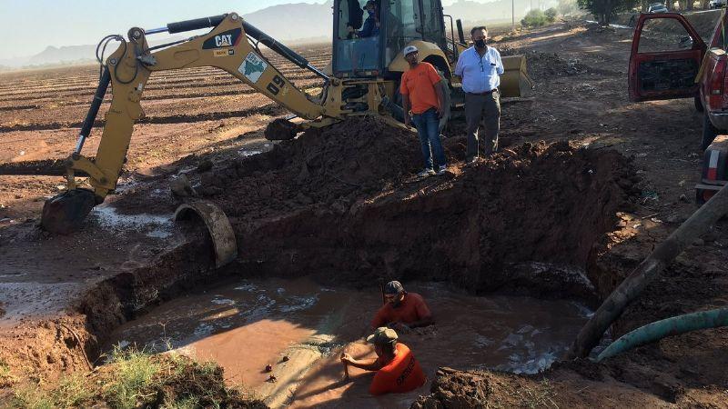 Oomapas aún no consigue pieza para arreglar desfogue de agua
