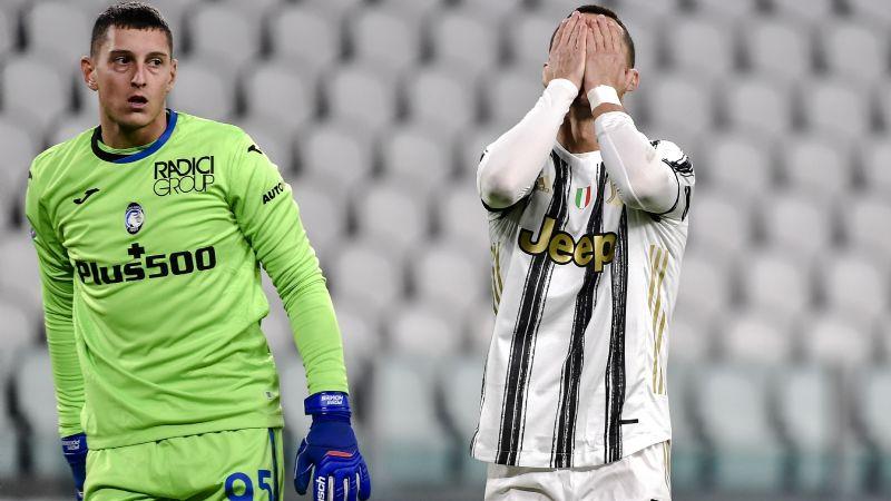 Cristiano es humano; falla penal y la Juventus empata con el Atalanta