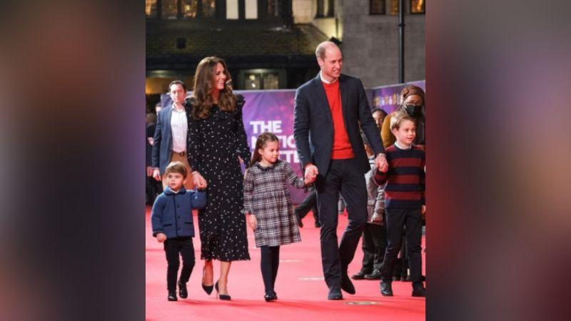 Príncipe William y Kate Middleton enternecen al lado de sus 3 hijo para su foto navideña