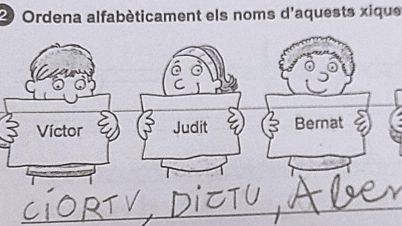 La respuesta de una niña en un ejercicio escolar divide opiniones en redes sociales