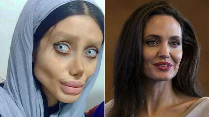 ¡Irreconocible! La 'Angelina Jolie iraní' muestra su verdadero rostro al reaparecer en cámaras