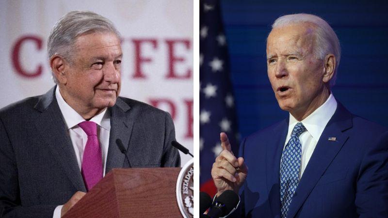 """AMLO sostiene primera llamada telefónica con Joe Biden: """"Trabajaremos juntos"""""""