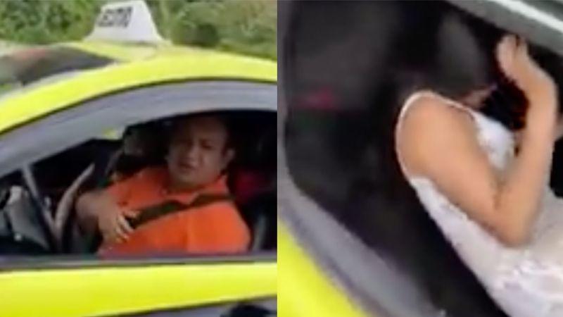 VIDEO: Taxista esconde a su amante en la cajuela mientras su esposa iba de copiloto
