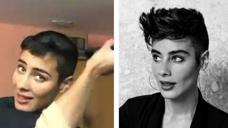 Esmeralda Pimentel se rapa toda la cabeza y así luce con su radical cambio de 'look'