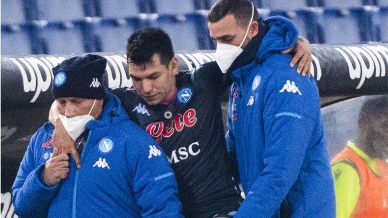 Hirving 'Chucky' Lozano asusta hasta al Napoli con su lesión; descartan fractura