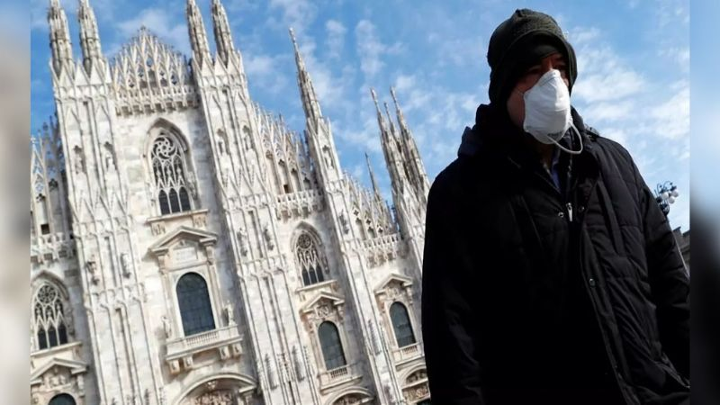 Prolongación de nueva cepa de Covid-19 deja a primer infectado en Italia