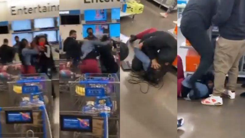 VIDEO: Mujeres protagonizan feroz pelea a golpes por una PlayStation 5 en Walmart