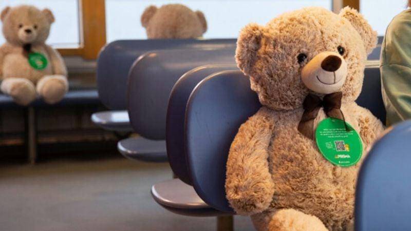 ¡Qué ternura! En Finlandia colocan osos de peluche para que se respete la sana distancia