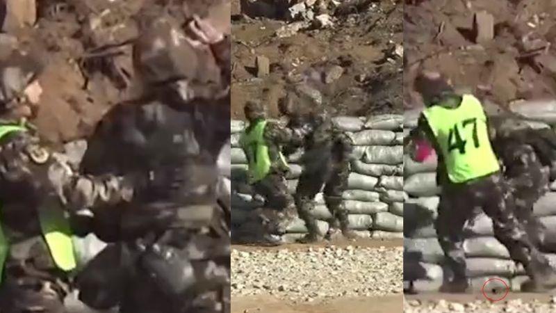 VIDEO: Militar chino salva la vida de inexperto cadete que deja caer granada a sus pies