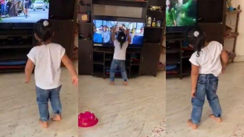 VIDEO: Televisión casi cae encima de niña al imitar coreografía de videoclip