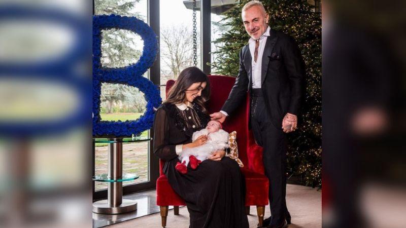 "Junto a su novia Sharon, Gianluca Vachi presenta a Blu: ""Nació con paladar hendido"""