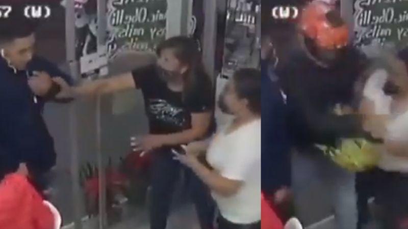 VIDEO: Mujeres pelean ferozmente contra asaltantes que irrumpen en estética