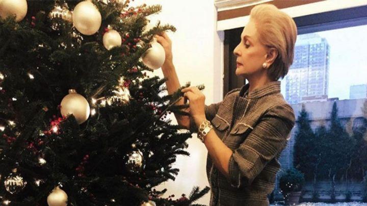 Carolina Herrera vive Navidad de ensueño desde la ciudad de los rascacielos
