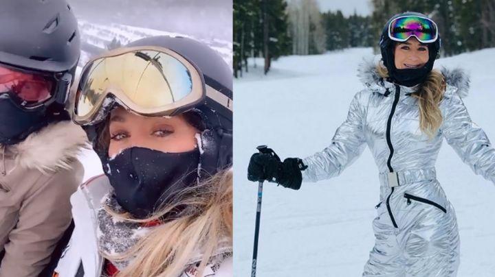 Geraldine Bazán y Camila Sodi celebran juntas Navidad en Aspen sobre la nieve