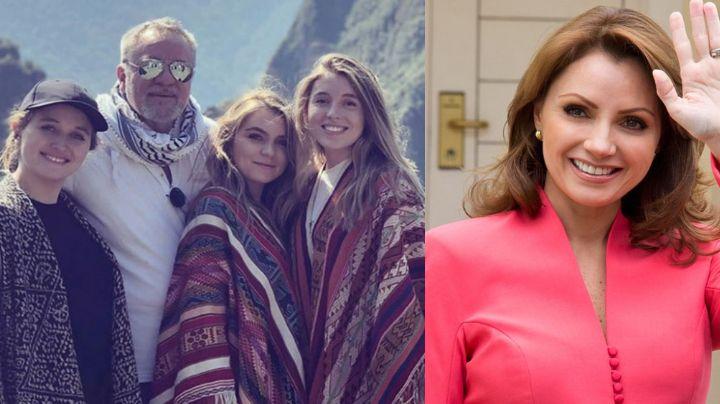 Angélica Rivera celebra la Navidad feliz y en compañía de su ex, 'El Güero' Castro, y tres hijas