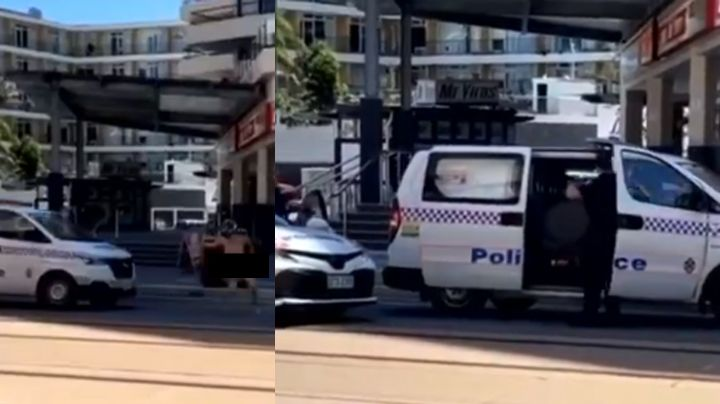 VIDEO: Con tan solo un casco, hombre es perseguido y finalmente se arresta el mismo