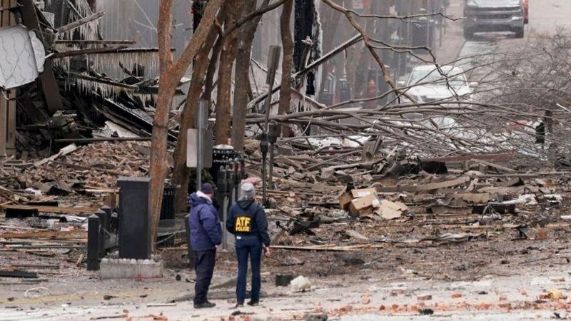 La Navidad fue alterada por una fuerte explosión que sacudió el centro de Nashville, en EU