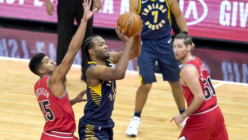 Los Pacers aplastan a Bulls gracias a un triple doble de Domantas Sabonis