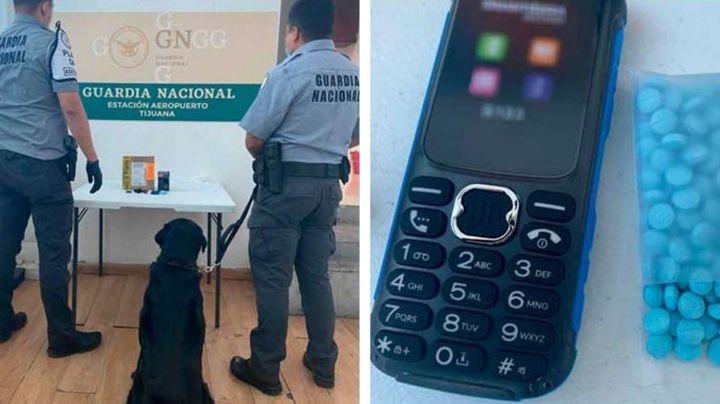 Tijuana: Guardia Nacional detecta 200 pastillas de fentanilo dentro de celular