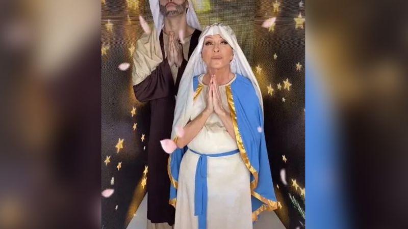 """""""Ya siéntese señora"""": Yuri es destrozada por bailar disfrazada de la Virgen María"""