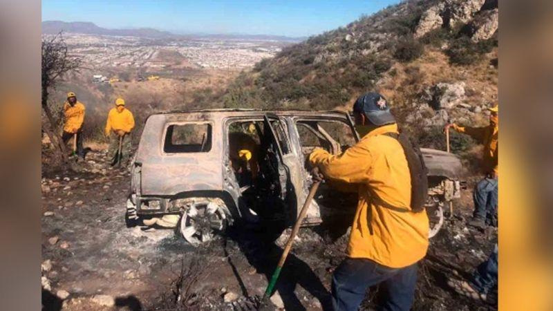 Detienen a jóvenes por provocar incendio forestal; subieron a la sierra en vehículo descompuesto