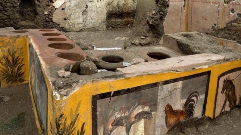 Arqueólogos encuentran en las ruinas de Pompeya un 'Fast Food' con siglos de existencia