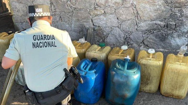 Guardia Nacional asegura punto de venta de huachicol en San Luis Potosí