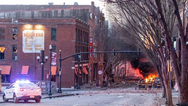 VIDEO: Así se vivió la explosión que sacudió a Nashville en plena Navidad