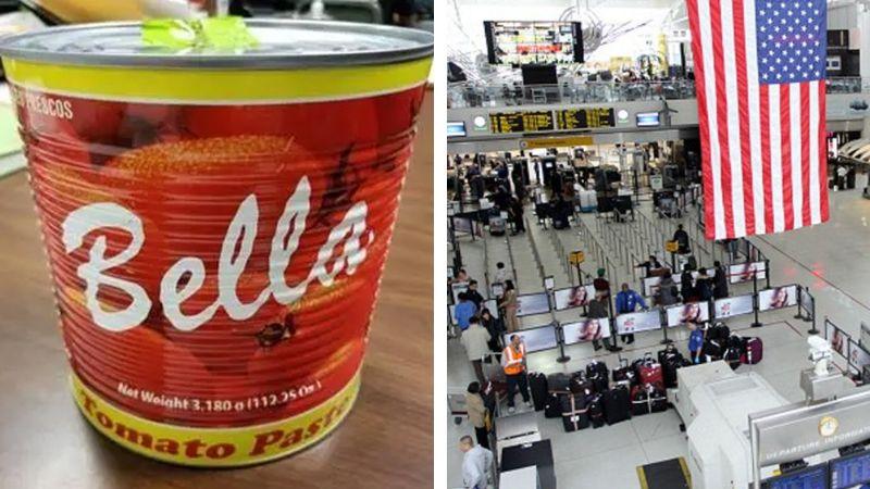 Dominicano es detenido en aeropuerto de Nueva York con lata de tomate llena de cocaína