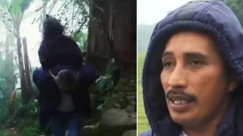 VIDEO: Hombre carga sobre su espalda a enfermos de Covid-19 para trasladarlos a hospital