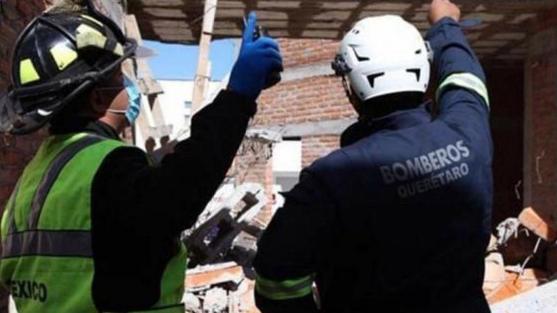 Se derrumba barda en construcción y aplasta a cuatro trabajadores en Querétaro