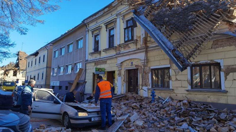 Sube a 6 el número de fallecidos por el fuerte sismo que sacudió a Croacia
