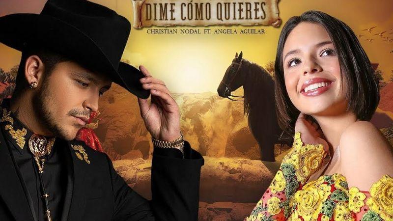 Ángela Aguilar presume increíble logro junto a Christian Nodal con 'Dime Cómo Quieres'