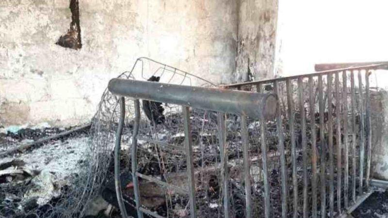 Amantes de lo ajeno dejan desamparados a niños de casa hogar luego de ocasionar un incendio