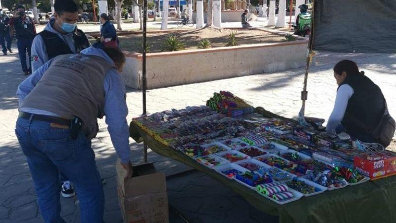 Ciudad Obregón: Protección Civil decomisa fuegos artificiales por venta clandestina