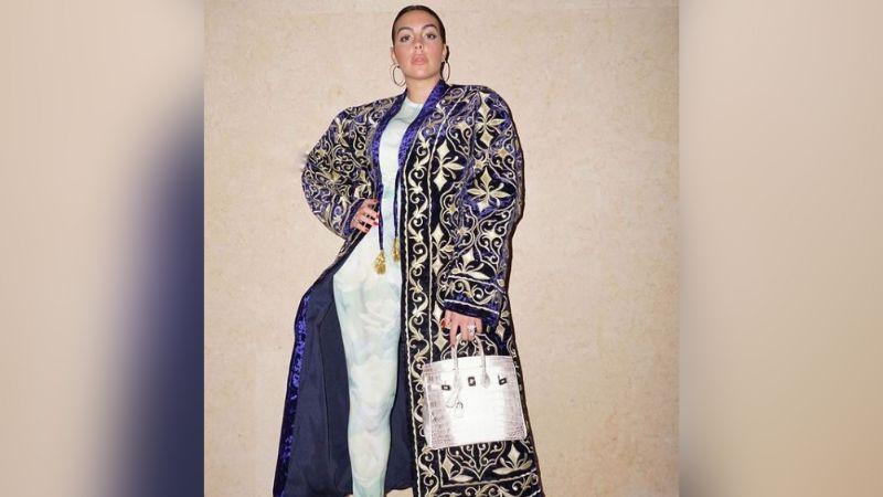Georgina Rodríguez, novia de Cristiano Ronaldo, recibe impresionante y lujoso collar