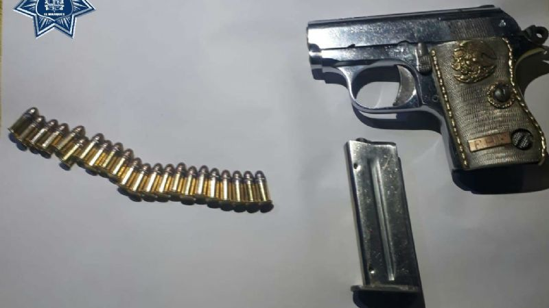 Un hombre es detenido al encontrarle un arma de fuego en sus pertenencias