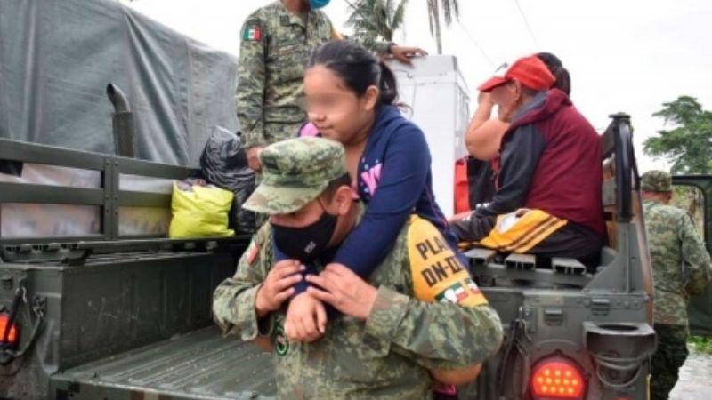 AMLO agradece a las Fuerzas Armadas por su gran trabajo en emergencias