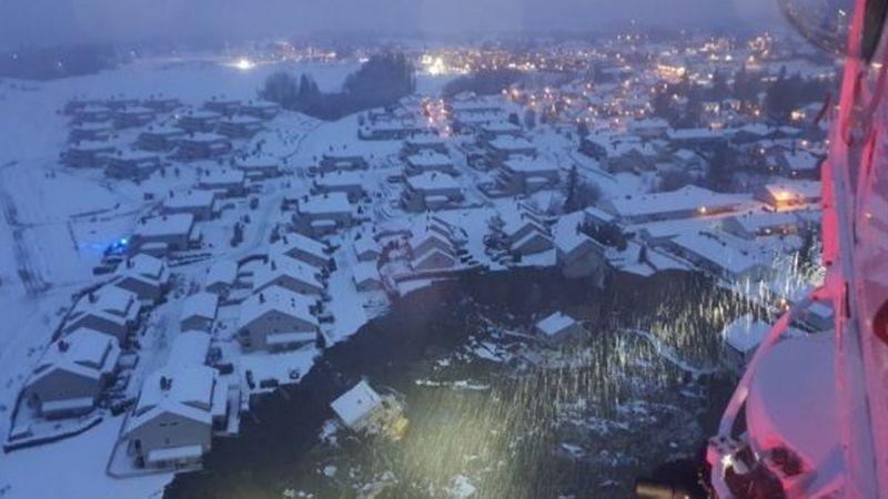 VIDEO: Socavón causa conmoción en Noruega; destruye casas y provoca evacuación masiva