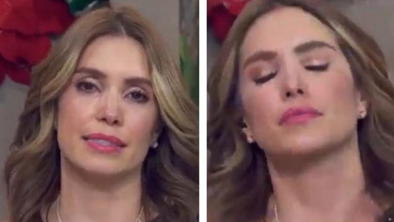 Destrozada y sin Magda Rodríguez, Andrea Escalona se despide del 2020 en 'Hoy'